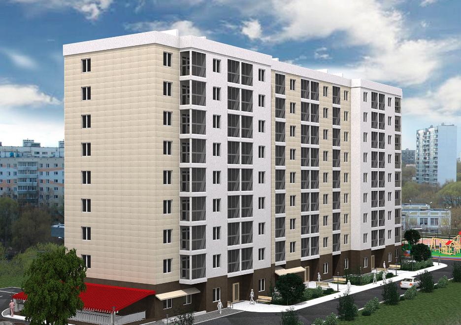 Многоквартирный многоэтажный жилой дом с нежилыми помещениями по ул. Интернациональной в г. Калининграде 1
