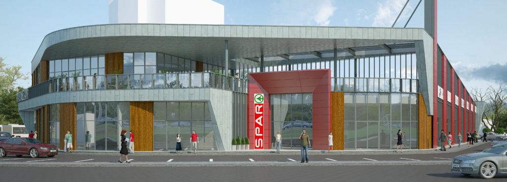 Здание магазина с закусочной и помещениями по оказанию услуг населению